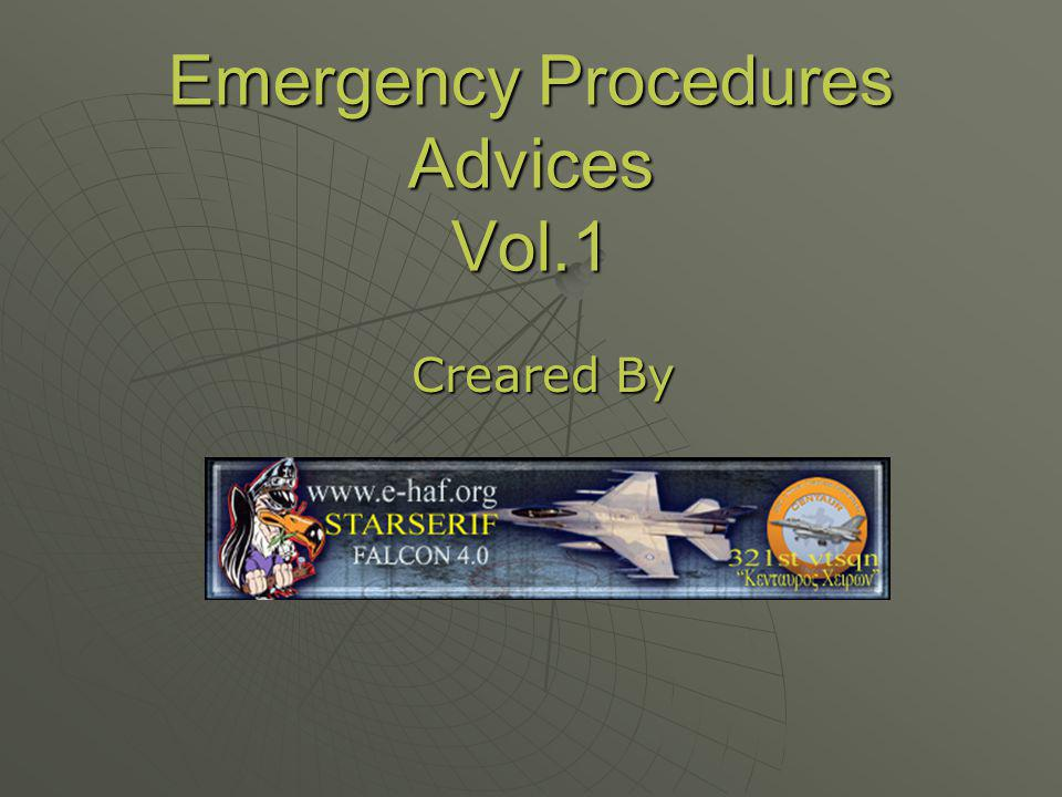 Εmergency Procedures Advices Vol.1