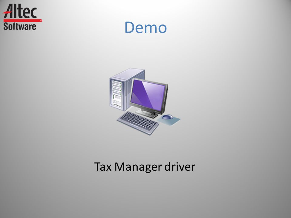 Demo Tax Manager driver