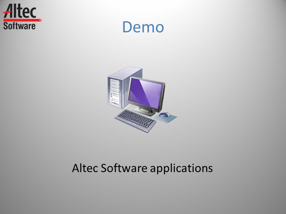 Demo Altec Software applications