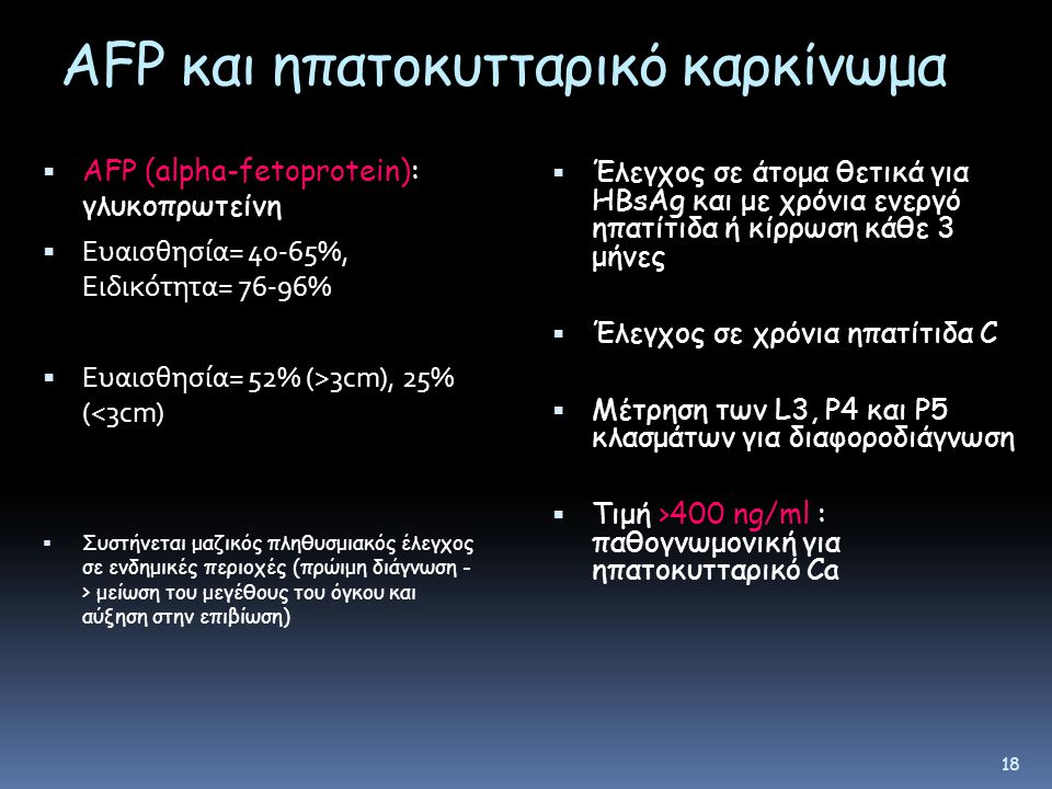 AFP και ηπατοκυτταρικό καρκίνωμα