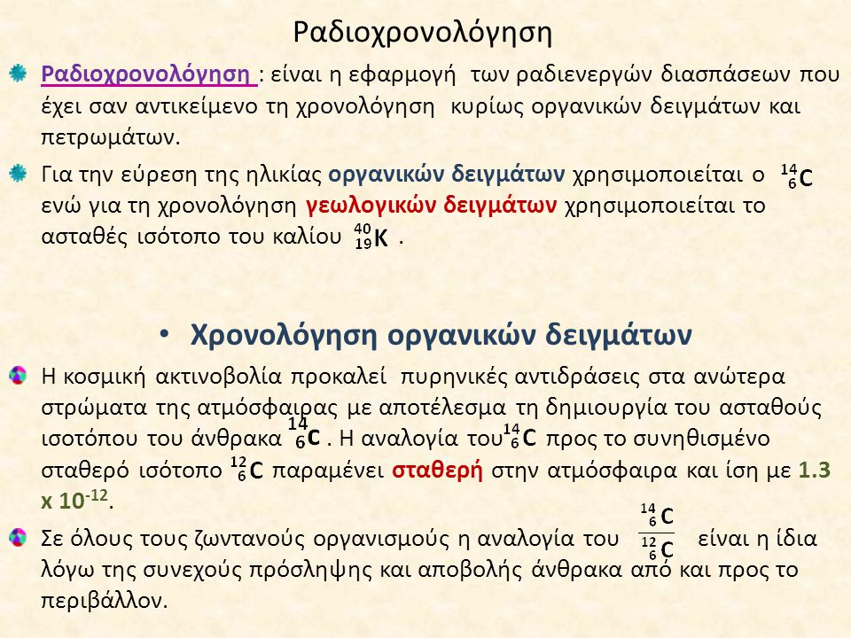 3 τύποι ραδιενεργών χρονολόγηση