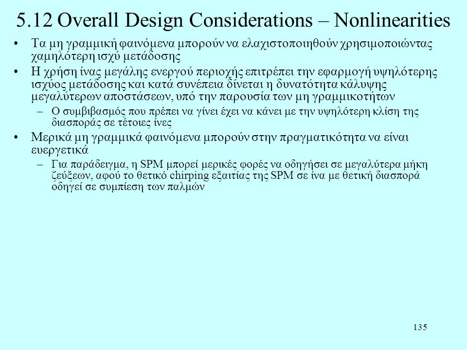5.12 Overall Design Considerations – Nonlinearities