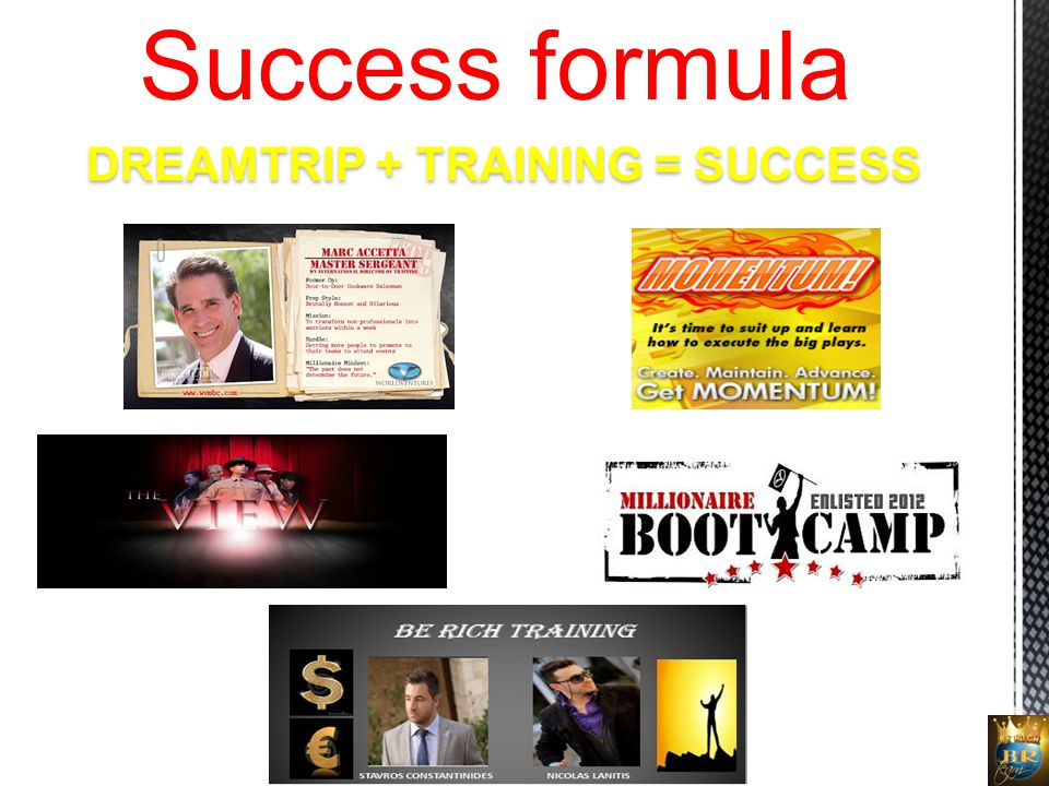 DREAMTRIP + TRAINING = SUCCESS