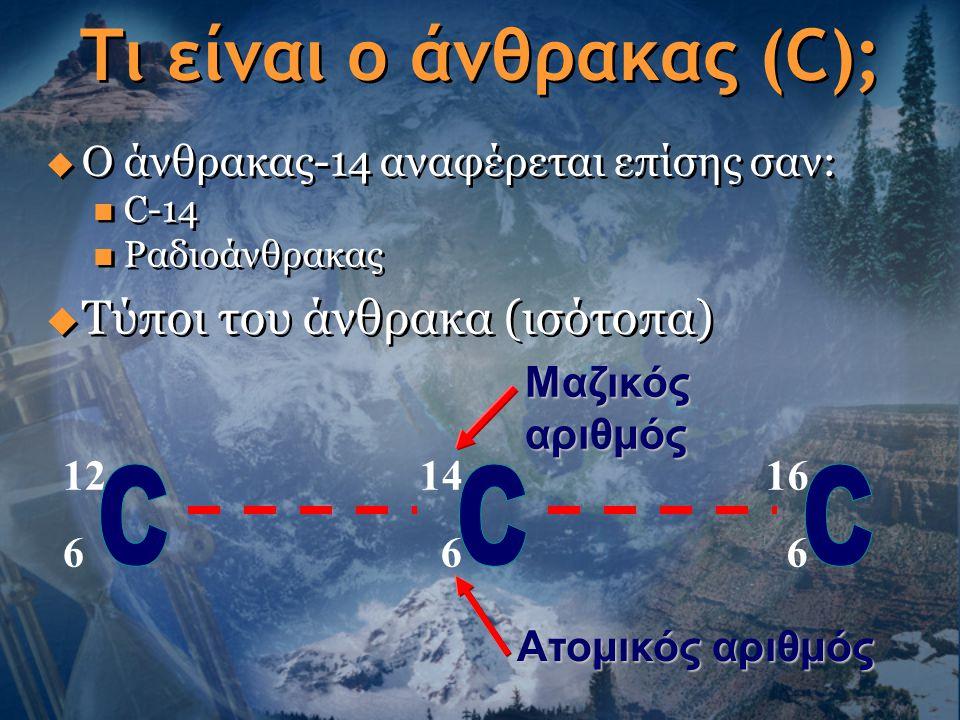 Τι είναι η χρονολόγηση άνθρακα στη χημεία ιστοσελίδες γνωριμιών για τους πότες