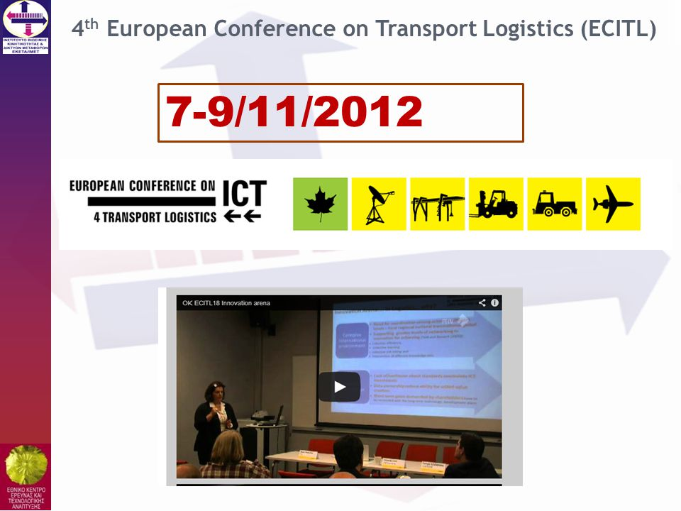 4th European Conference on Transport Logistics (ECITL)