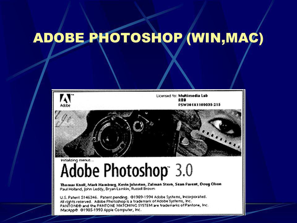 ADOBE PHOTOSHOP (WIN,MAC)