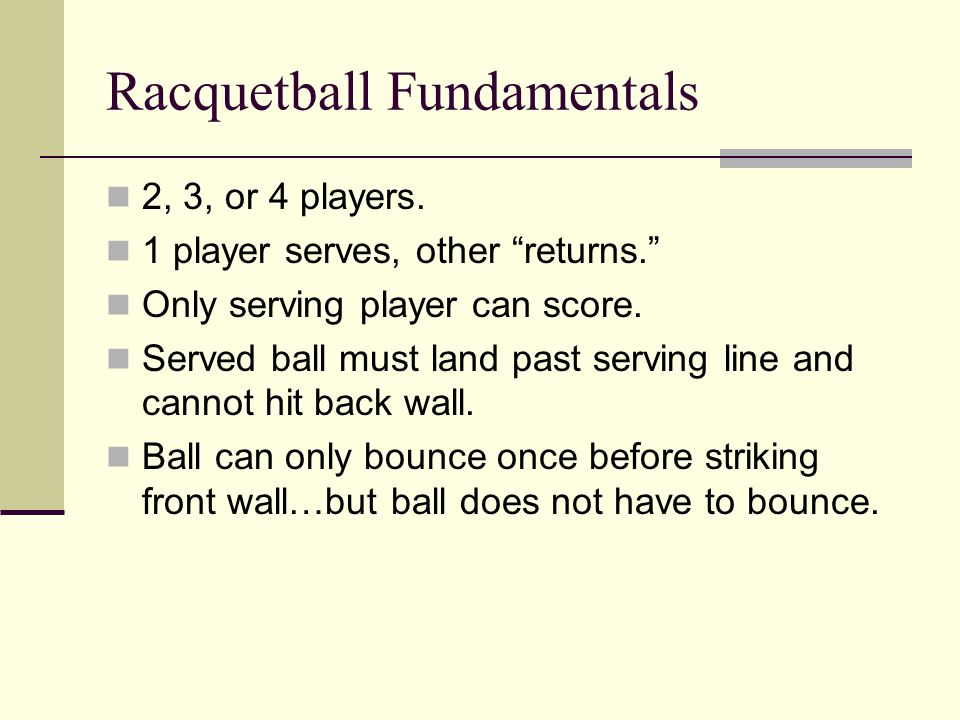 Racquetball Fundamentals