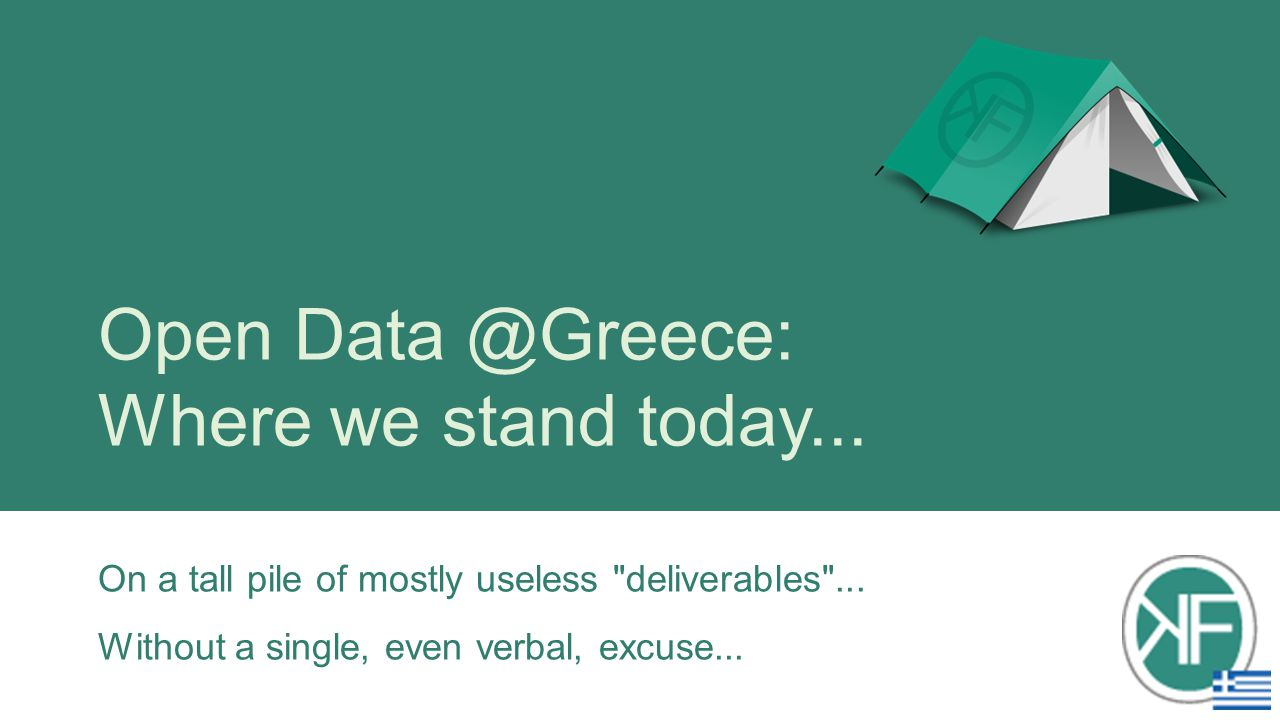 Open Data @Greece: Where we stand today...