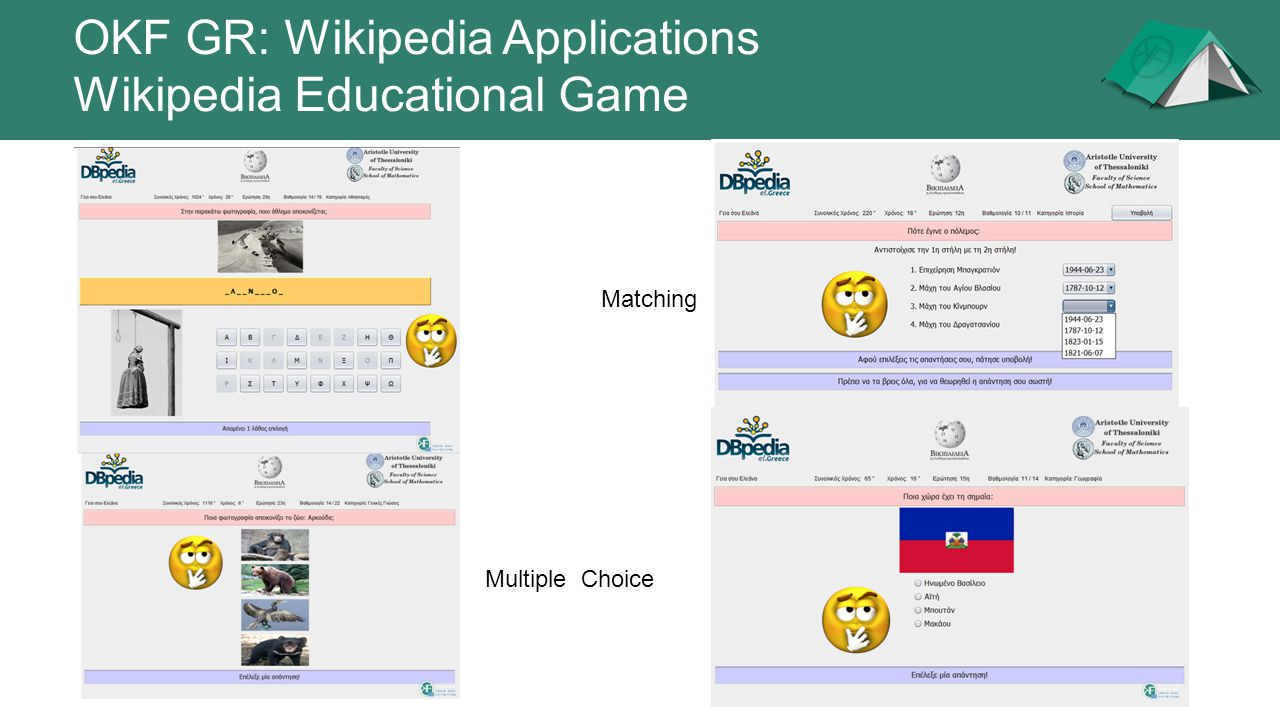 OKF GR: Wikipedia Applications Wikipedia Educational Game