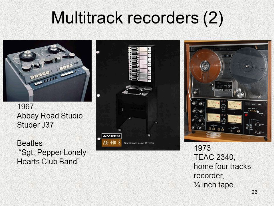 Multitrack recorders (2)