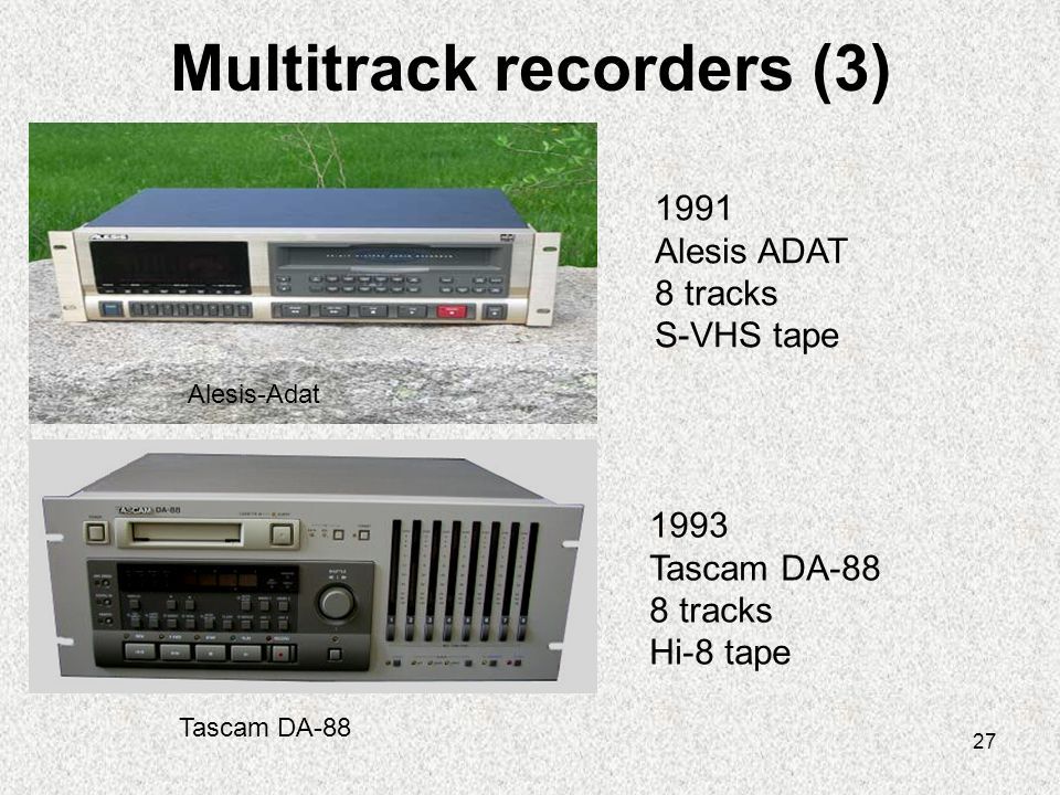Multitrack recorders (3)