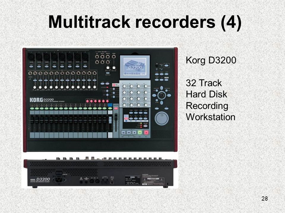 Multitrack recorders (4)