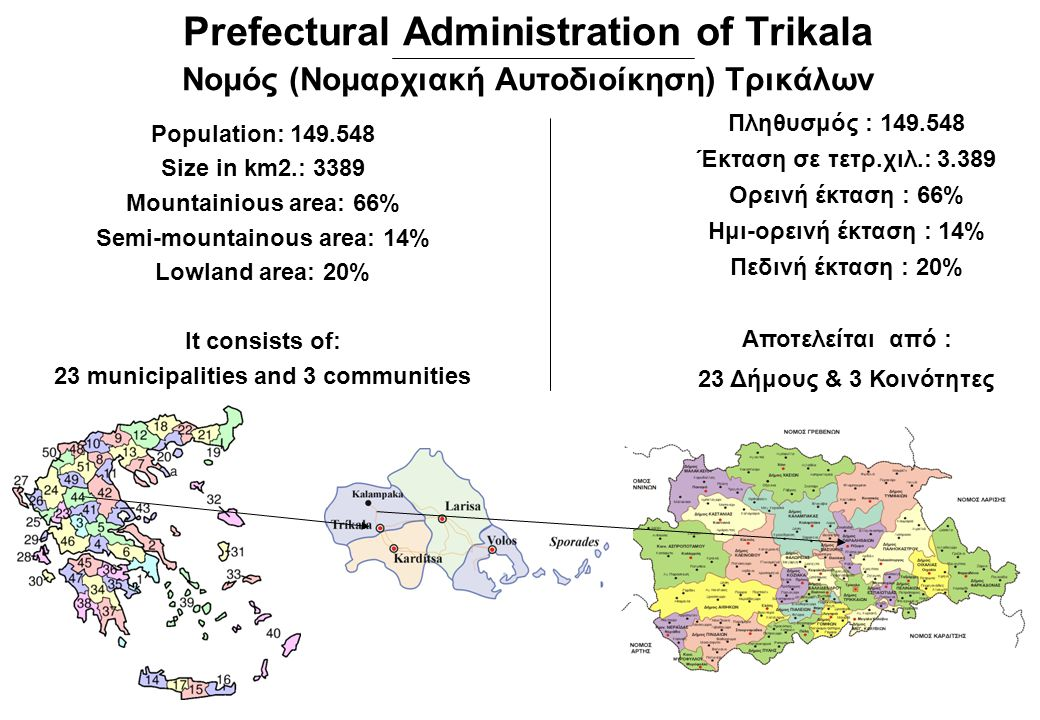 Prefectural Administration of Trikala Νομός (Νομαρχιακή Αυτοδιοίκηση) Τρικάλων