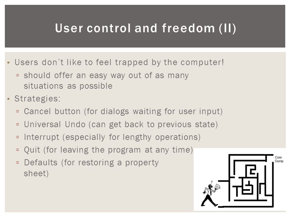User control and freedom (ΙΙ)
