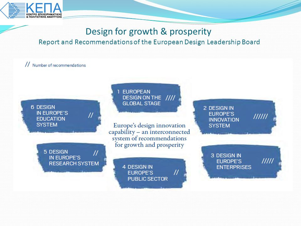 Design for growth & prosperity Report and Recommendations of the European Design Leadership Board