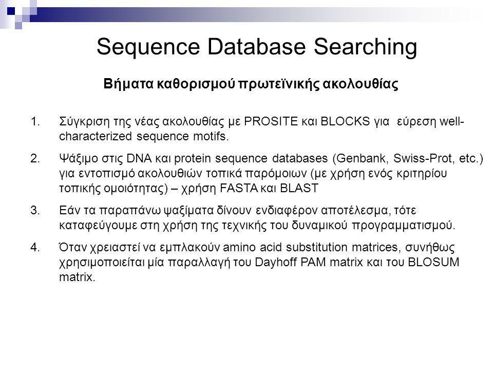 Sequence Database Searching