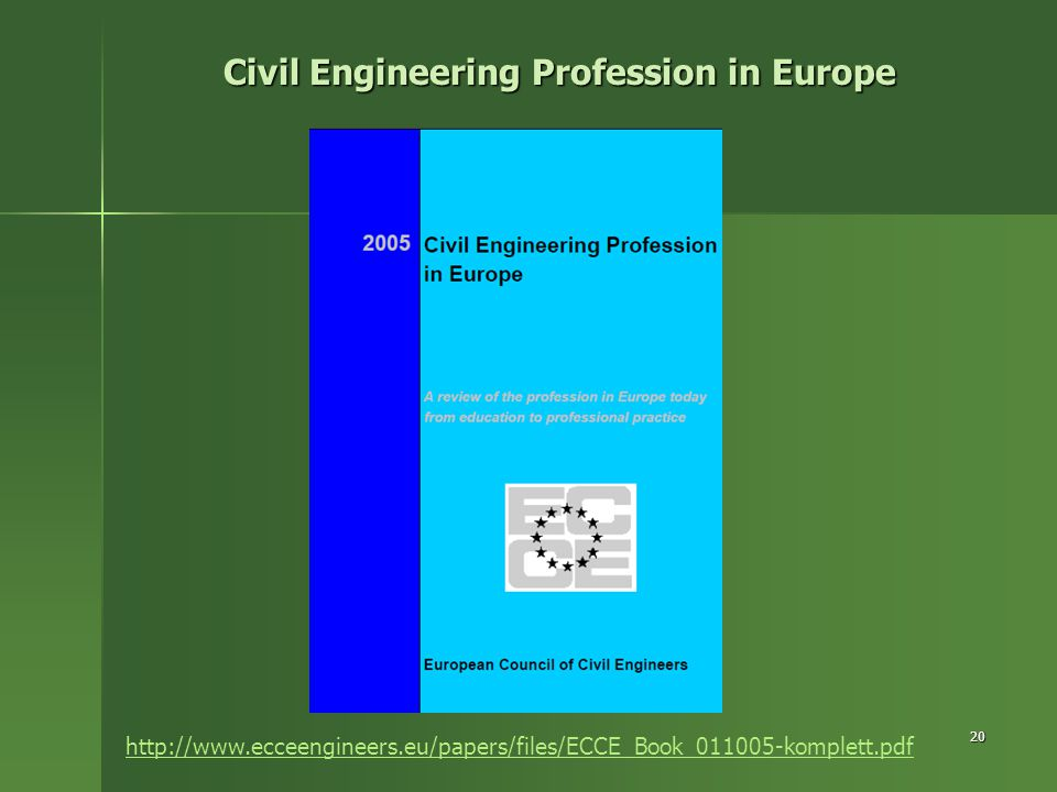 Civil Engineering Profession in Europe