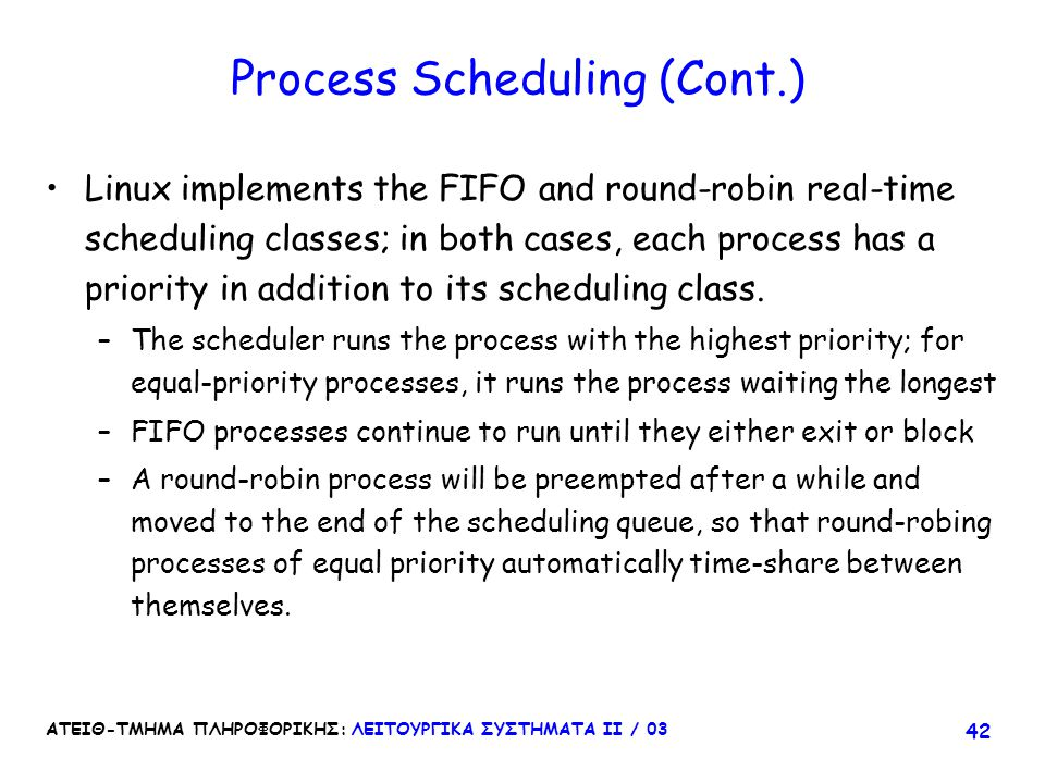 Process Scheduling (Cont.)