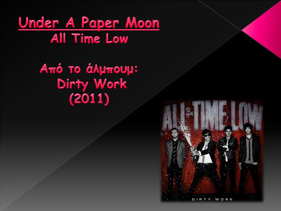 Under A Paper Moon All Time Low Από το άλμπουμ: Dirty Work (2011)