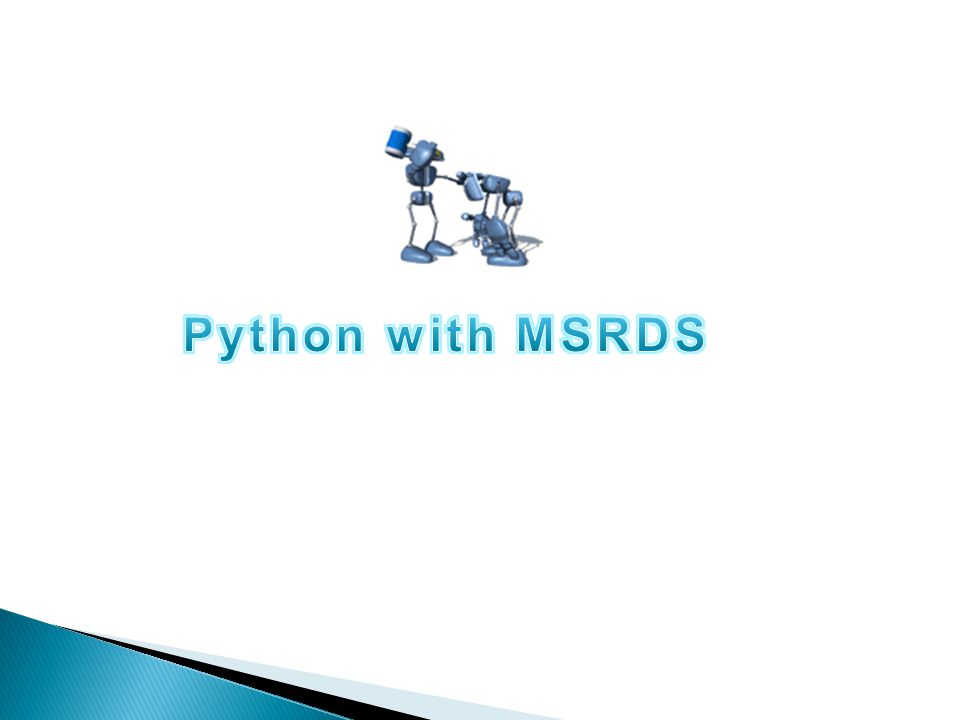 Python with MSRDS