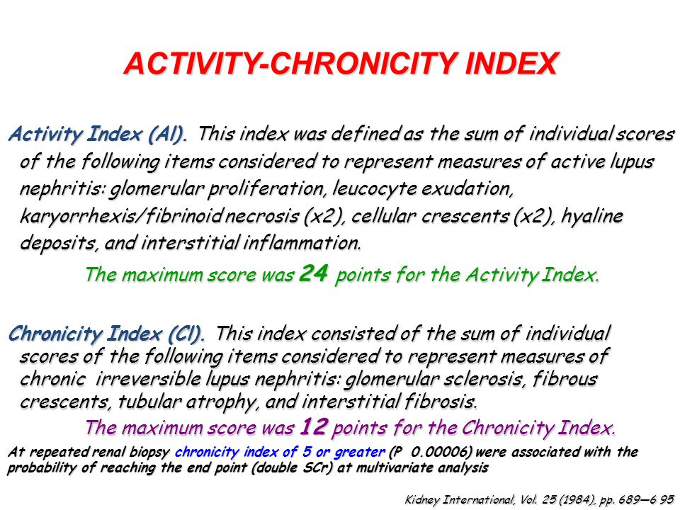 ACTIVITY-CHRONICITY INDEX