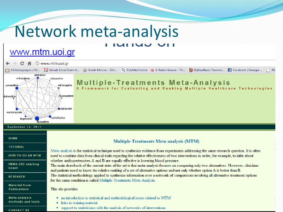 Network meta-analysis