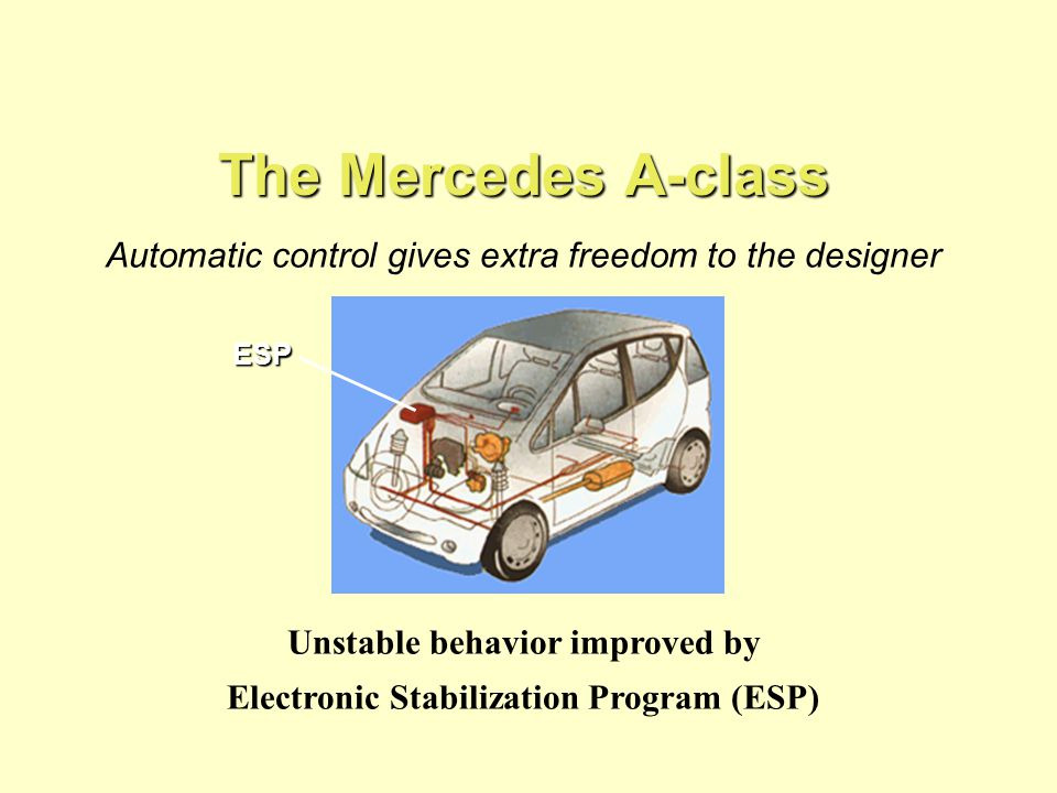 Unstable behavior improved by Electronic Stabilization Program (ESP)