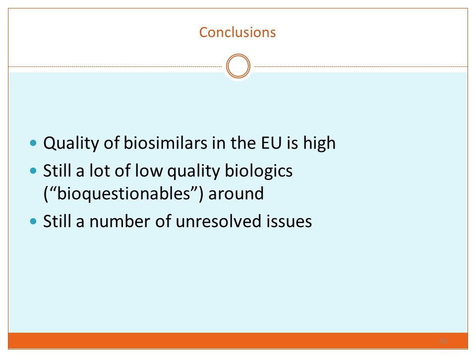Quality of biosimilars in the EU is high