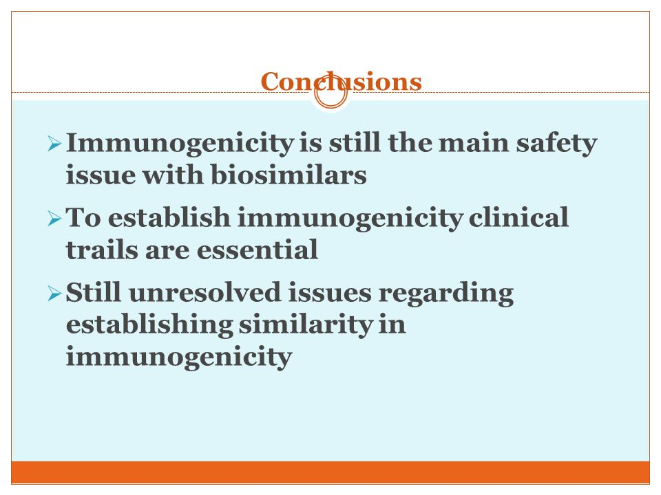 Immunogenicity is still the main safety issue with biosimilars