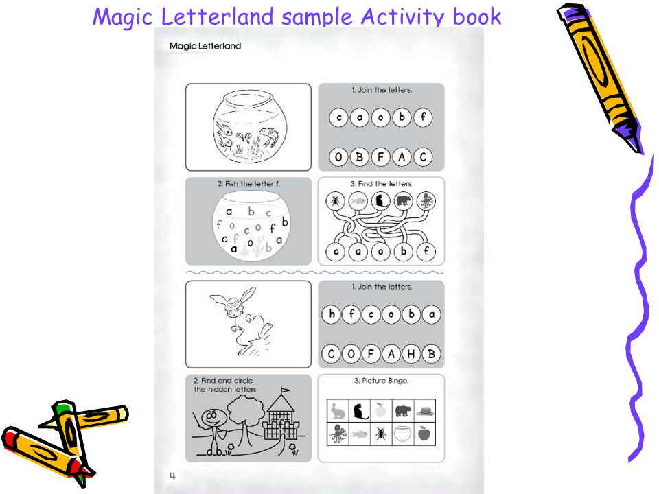 Magic Letterland sample Activity book