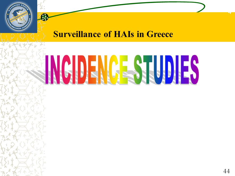 4444 Surveillance of HAIs in Greece INCIDENCE STUDIES 44