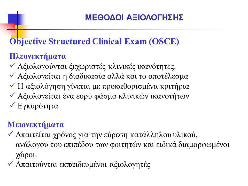 Objective Structured Clinical Exam (OSCE)