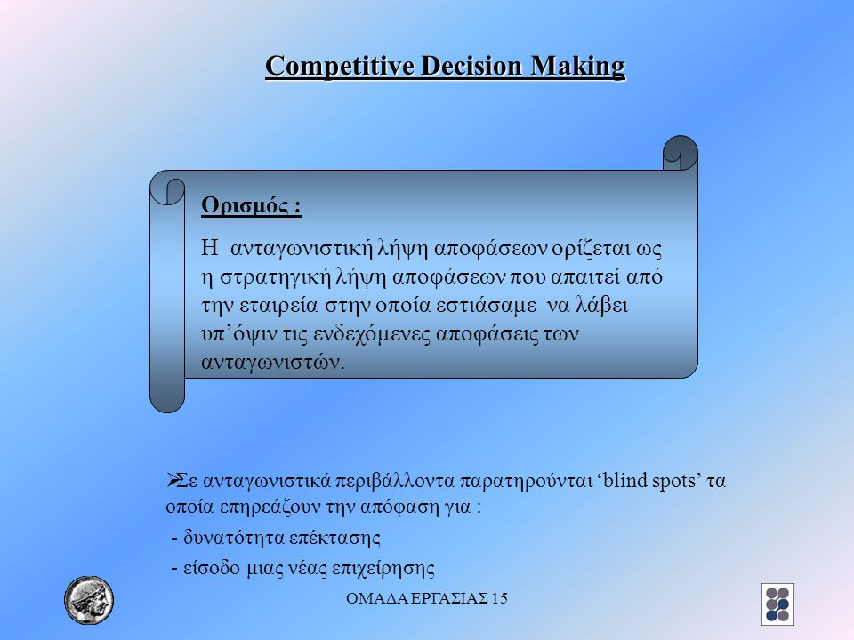 Competitive Decision Making