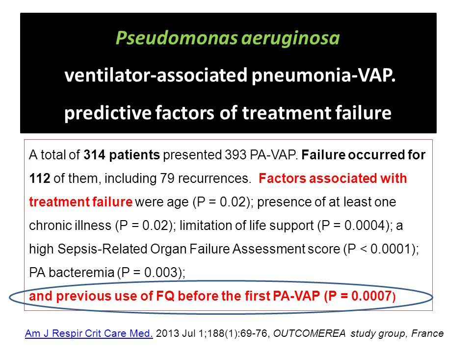 Pseudomonas aeruginosa ventilator-associated pneumonia-VAP.