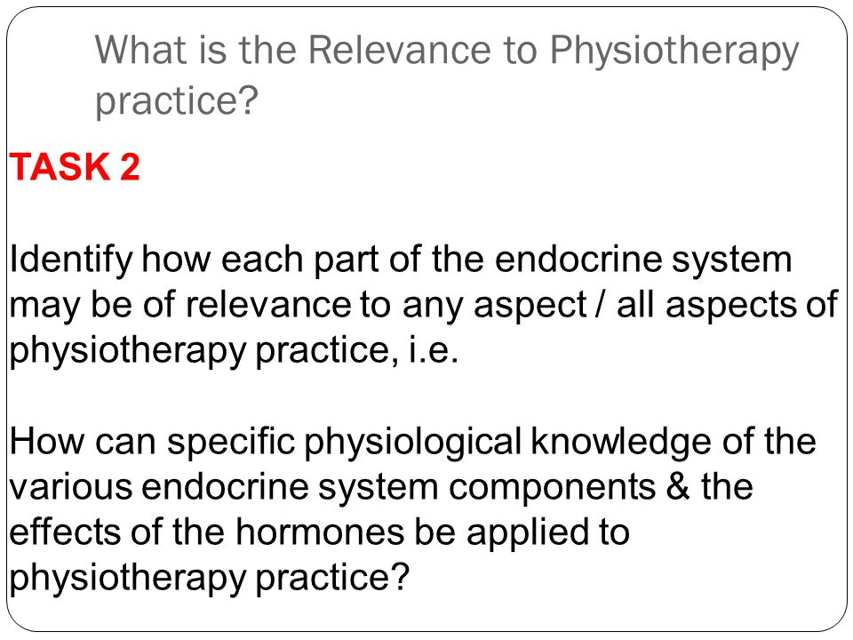 What is the Relevance to Physiotherapy practice