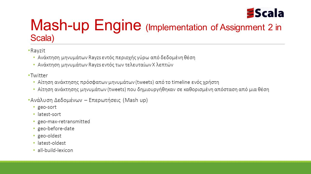 Mash-up Engine (Implementation of Assignment 2 in Scala)