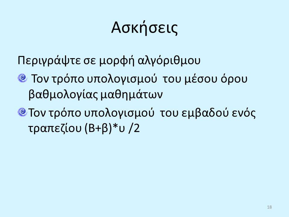 αλγορίθμου